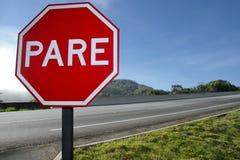 L'arrêt rouge de plat ÉPLUCHENT 8803 Image libre de droits