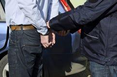 L'arrestation d'un homme Photos stock