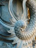 L'arrière du dragon chinois réel Photo stock