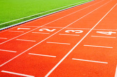 L'arrivo in una corsa di sprint Immagini Stock Libere da Diritti