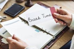 L'arrêt de renfoncement de relaxation de temps de coupure détachent le concept de fuite Image stock