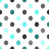 L'art coloré de polka de points de modèle de vecteur de fond conception abstraite sans couture de vintage de rétro avec le cercle Images stock