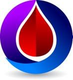 Le sang laisse tomber le logo Photo libre de droits