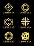 L'art de bijoux et de fleur de diamant d'or soustraient la scénographie de vecteur de logo illustration stock