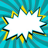 L'art de bruit a dénommé le calibre de bulle de la parole pour votre conception Forme vide de coup de style de bruit-art de bande illustration libre de droits