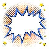 L'art de bruit a dénommé le calibre de bulle de la parole pour votre conception Forme vide de coup de style de bruit-art de bande Image libre de droits