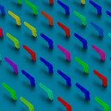l'art de bruit 3d lance le modèle d'illustration Image libre de droits