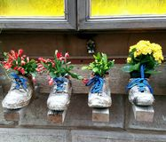 L'art de devanture de magasin rencontre la végétation en Toscane, Italie Photos libres de droits