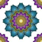 L'art de mandala, fleurs abstraites sans couture de kaléidoscope wallpaper le Ba Photographie stock