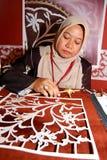 L'art de Tekad ou connu sous le nom de broderie Photos libres de droits