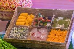 L'art des desserts thaïlandais ont été passés vers le bas par le gener photographie stock libre de droits