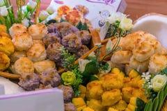 L'art des desserts thaïlandais ont été passés vers le bas par le gener images stock