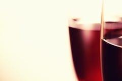L'art du fond en verre de vin photographie stock libre de droits