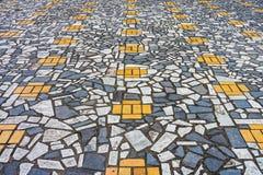L'art du trottoir de mosaïque Photos libres de droits