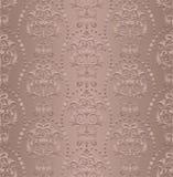 L'Art nouveau de damassé de papier peint de style de vintage ornemente le fond coloré par texture sans couture d'éléments de conc Photos libres de droits