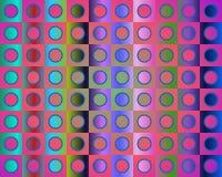 L'art op vont à la réception dans bleu et vert rouges Image libre de droits