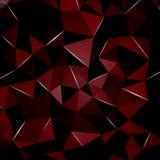 L'arte adatta a grafico, web design del modello 3D di progettazione moderna può essere usata per i triangoli di rosso di infograp Fotografia Stock