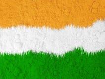 Arte artistica della bandiera nazionale indiana Fotografie Stock Libere da Diritti