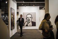L'arte contemporanea ARCO giusto comincia la sua trentatreesima edizione con Finl Immagini Stock Libere da Diritti