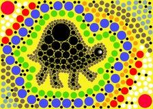 L'arte del puntino di viaggio della tartaruga Fotografia Stock Libera da Diritti