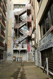 L'arte della via del vicolo del calzettaio è una dell'attrazione di turisti principale a Melbourne Immagini Stock Libere da Diritti