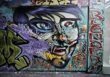 L'arte della via è una dell'attrazione di turisti principale a Melbourne Immagini Stock Libere da Diritti