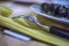 L'arte di cibo nell'etichetta Fotografie Stock