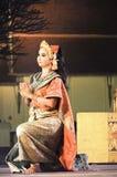 L'arte di Dancing della Tailandia ha chiamato Khon, un di alta classe Immagini Stock Libere da Diritti
