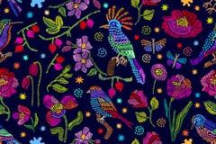 L'arte di piega ha ispirato il ricamo floreale Fotografia Stock