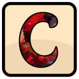 L'arte di progettazione di colore della lettera illustrazione di stock