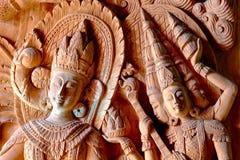 L'arte di scultura del legno Fotografie Stock Libere da Diritti