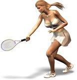 L'arte di tennis Fotografia Stock