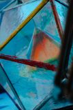 L'arte di vetro geometrica su esposizione durante artprize fotografia stock libera da diritti