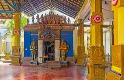 L'arte medievale in tempio di Munneswaram Immagine Stock Libera da Diritti