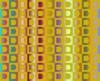 L'arte op va al partito nel colore giallo Fotografie Stock