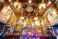 l'arte tailandese molto bella in un tempio immagine stock