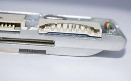 l'article de base de l'électronique cassé câble les goupilles micro en plastique Photographie stock libre de droits