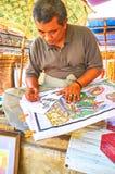L'artigiano in Bagan, Myanmar Fotografia Stock Libera da Diritti