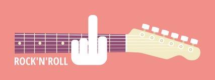 l'artiste croient la roche de la guitare i de gibson de ventilateur pas Images stock