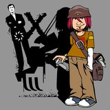 L'artiste de graffiti Image libre de droits