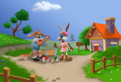 L'artiste de lapin Images libres de droits