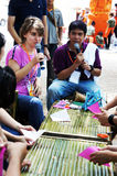 L'artiste du festival 2012 de bougie d'Ubon Photographie stock
