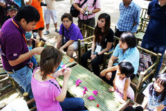 L'artiste du festival 2012 de bougie d'Ubon Images libres de droits