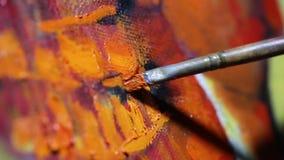 L'artiste peint une peinture clips vidéos