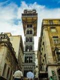 L'ascenseur également appelé de Santa Justa Lift Carmo est un ascenseur à Lisbonne photo stock