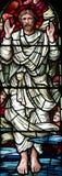 L'ascension de Jesus Christ en verre souillé photo stock
