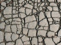 l'asfalto fende la struttura Fotografia Stock