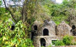 L'ashram de Beatles dans Rishikesh image libre de droits