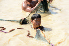 L'ASIA CAMBOGIA SIEM RIEP TONLE SAP Fotografia Stock