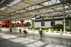 L'Asia Cina, Pechino, carnevale agricolo, centro espositivo dell'interno, ¼ Œ del buildingï di ŒAntique del ¼ dello sceneï Fotografia Stock Libera da Diritti